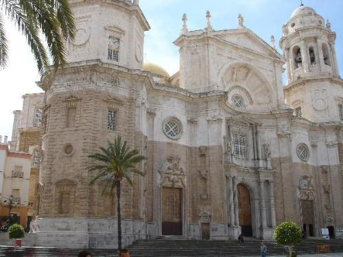 Cadiz Cathedral stands in the centre of the old town