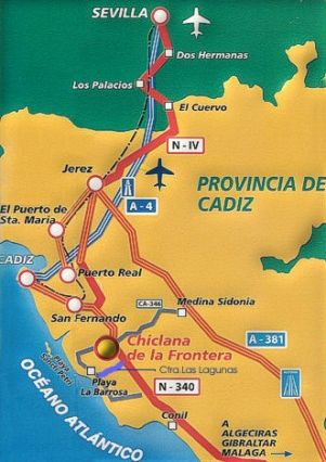 Map of Costa de la Luz